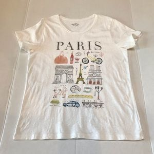 J Crew Collector Tees Paris Size Large